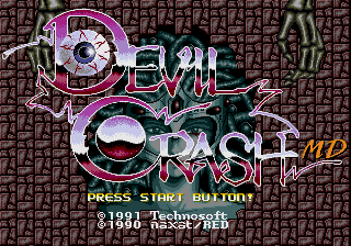 Devil Crash MD [Model T-18053] screenshot