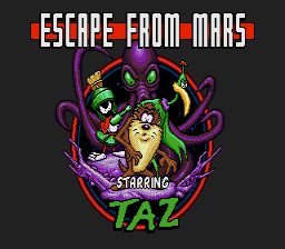 Escape from Mars Starring Taz screenshot