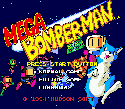 Mega Bomberman [Model 1573-50] screenshot