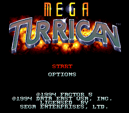 Mega Turrican [Model T-93246-50] screenshot