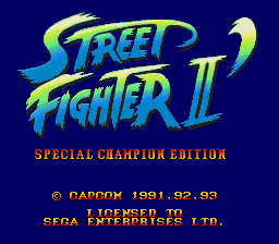 Street Fighter II' - Special Champion Edition [Model 1090-50] screenshot