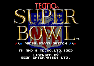 Tecmo Super Bowl screenshot
