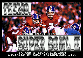 Tecmo Super Bowl II - Special Edition screenshot