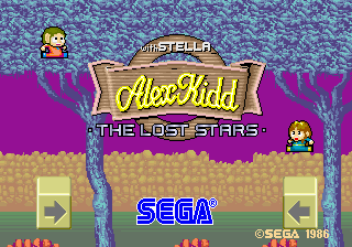 Alex Kidd With Stella - The Lost Stars [Model 317-0021] screenshot