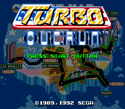Turbo Out Run [Model G-4053] screenshot