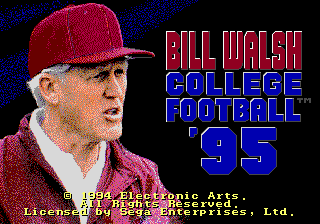 Bill Walsh College Football 95 [Model 7348] screenshot