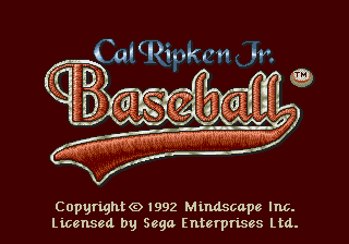 Cal Ripken Jr. Baseball screenshot