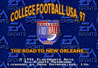 College Football USA 97 - The Road to New Orleans screenshot