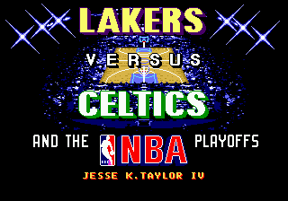 Lakers versus Celtics and the NBA Playoffs [Model 7004] screenshot