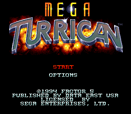 Mega Turrican [Model T-13086] screenshot