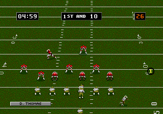 NFL Football '94 Starring Joe Montana screenshot