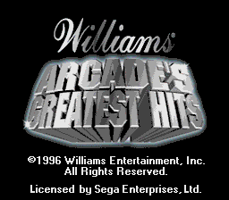 Williams Arcade's Greatest Hits screenshot