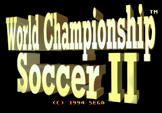World Championship Soccer II [Model 1233] screenshot