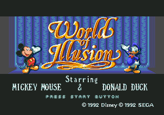 World of Illusion Starring Mickey Mouse and Donald Duck [Model 1070] screenshot