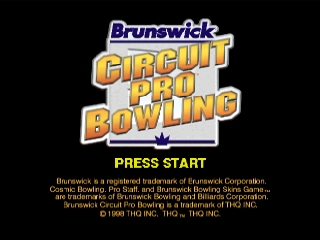 Brunswick Circuit Pro Bowling [Model NUS-NOWE-USA] screenshot