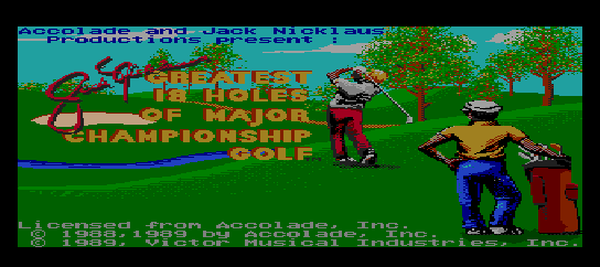 Jack Nicklaus' Greatest 18 Holes of Major Championship Golf screenshot