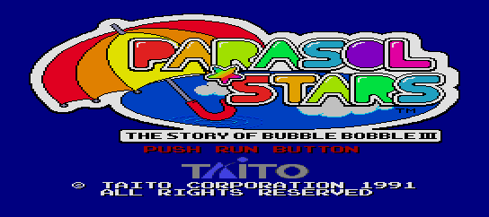 Parasol Stars - The Story of Bubble Bobble III [Model TP03017] screenshot