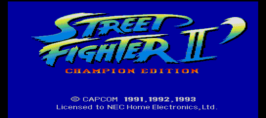 Street Fighter II' - Champion Edition [Model HE93002] screenshot
