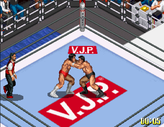 Fire Pro Wrestling S - 6Men Scramble [Model T-4308G] screenshot