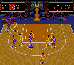 Magic Johnson no Super Slam Dunk [Model SHVC-D9] screenshot