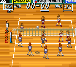 Multi Play Volleyball [Model SHVC-A3VJ-JPN] screenshot