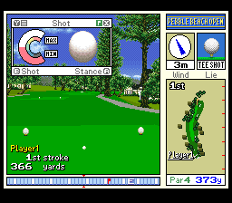 New 3D Golf Simulation - Pebble Beach no Hatou [Model SHVC-GB] screenshot
