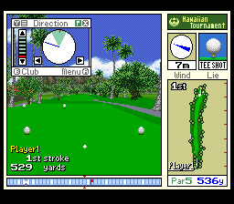 New 3D Golf Simulation - Waialae no Kiseki [Model SHVC-GC] screenshot