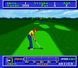 PGA Tour Golf [Model SHVC-PG] screenshot