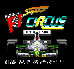 Super F1 Circus [Model SHVC-FC] screenshot