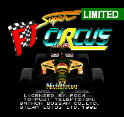 Super F1 Circus Limited [Model SHVC-FD] screenshot