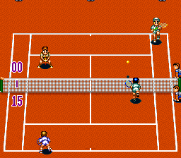 Super Final Match Tennis [Model SHVC-F9] screenshot
