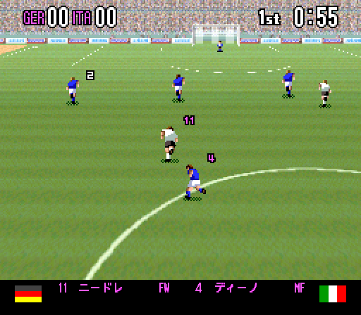 Super Formation Soccer 94 - World Cup Edition [Model SHVC-3F] screenshot