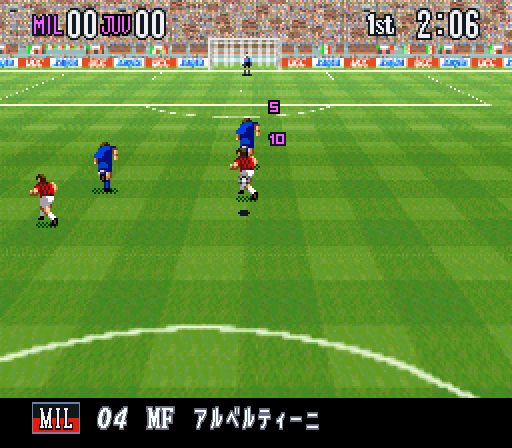 Super Formation Soccer 95 della Serie A UCC Xaqua [Model SHVC-ADEJ-JPN] screenshot