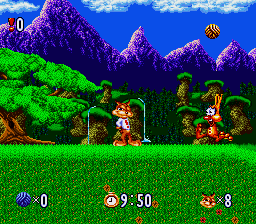 Bubsy in Claws Encounters of the Furred Kind [Model SNSP-UY-EUR] screenshot
