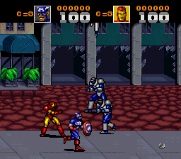 Captain America and the Avengers [Model SNSP-6A-NOE] screenshot