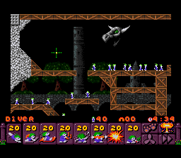 Lemmings 2 - The Tribes [Model SNS-L2-USA] screenshot