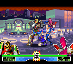Mighty Morphin Power Rangers - The Fighting Edition [Model SNSP-A3RP-UKV] screenshot