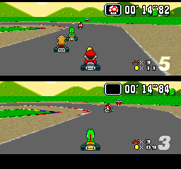 Super Mario Kart [Model SNSP-MK-FAH] screenshot