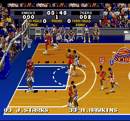 Tecmo Super NBA Basketball [Model SNS-XM-USA] screenshot