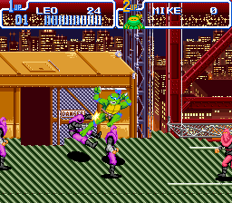 Teenage Mutant Ninja Turtles IV - Turtles in Time [Model SNS-TM-USA] screenshot