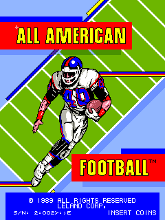 All American Football [4-Player Upright] screenshot