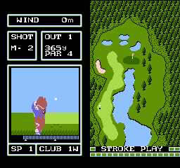 Family Computer Golf Japan Course [Model FSG-GFJE] screenshot