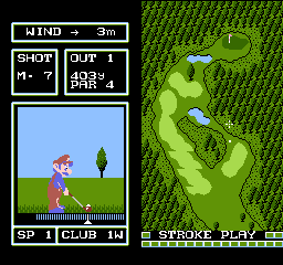Family Computer Golf Special Course screenshot
