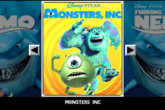 2 Games in 1: Monsters, Inc. + Finding Nemo [Model AGB-BDZP-EUR] screenshot