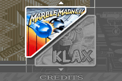 2 Games in One! Marble Madness + Klax [Model AGB-B68P-EUR] screenshot