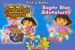 2 Games in One: Dora the Explorer Double Pack [Model AGB-B2EE-USA] screenshot