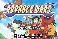 Advance Wars [Model AGB-AWRP] screenshot