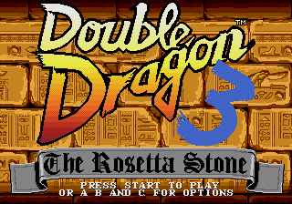 Double Dragon 3 - The Rosetta Stone screenshot