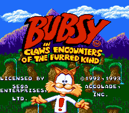 Bubsy in Claws Encounters of the Furred Kind [Model 3209] screenshot