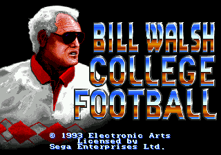 Bill Walsh College Football screenshot